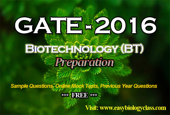 GATE Biotechnology Previous Year Question Paper