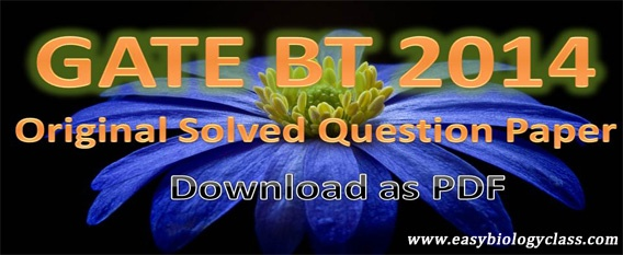 GATE Previous Year Question Papers 2014
