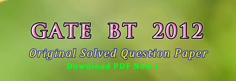 gate bt 2012 question paper