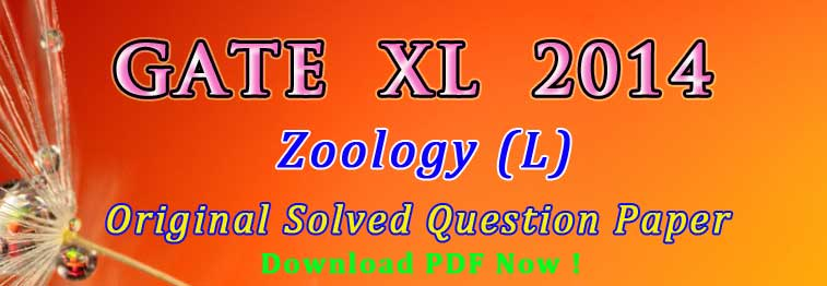 GATE Zoology Previous Year Exam Question Papers