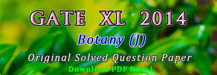Botany Gate Previous Year Question Papers