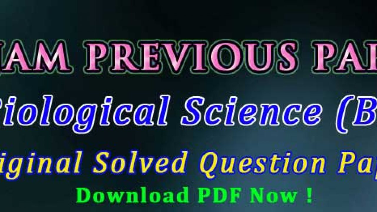 IIT JAM Biological Science (BL) Previous Papers + Key | easybiologyclass