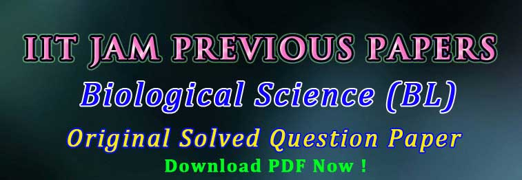 iit jam biological science paper pdf