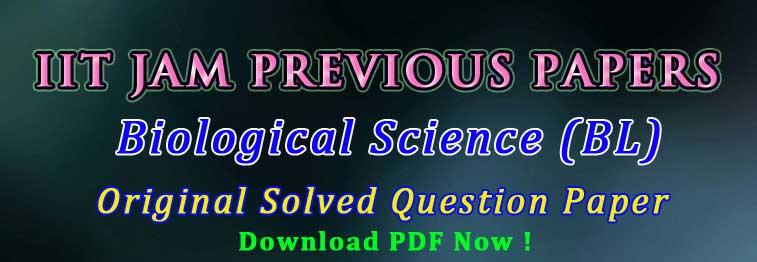 iit jam biological science paper pdf