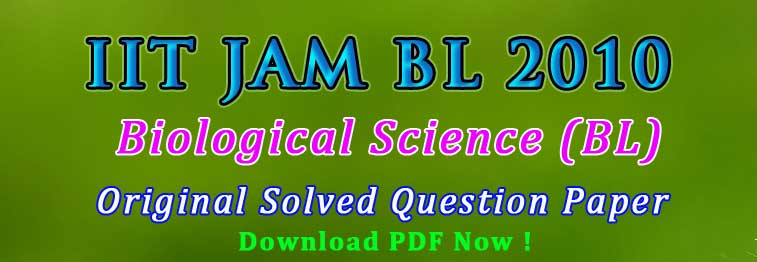 Biological Science JAM Exam Preparation
