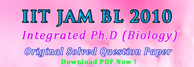 JAM BL 2010 Solved Question Paper