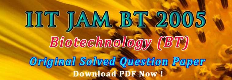 JAM BT 2017 Question Paper