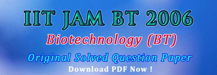 JAM BT 2006 Original Question Paper