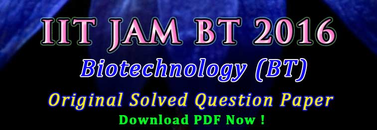 jam bt 2016 question paper