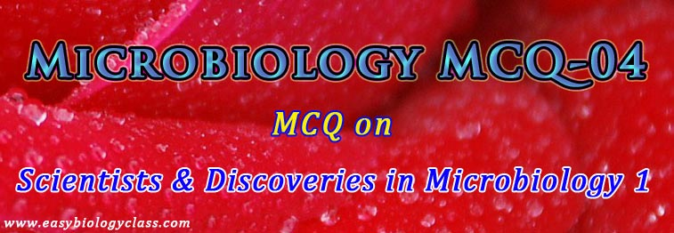 Scientists in Microbiology MCQ