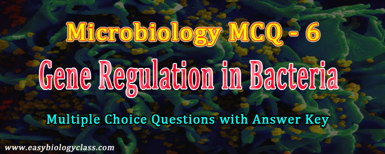 MCQ on Gene Expression in Bacteria | easybiologyclass
