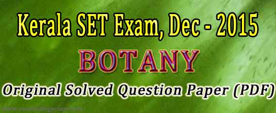 Previous SET Papers Botany and Zoology