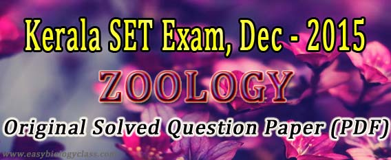 Zoology SET Exam Paper