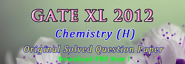 GATE Chemistry Solved Paper 2012