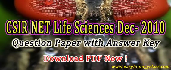 NET Life Science Solved Question Paper
