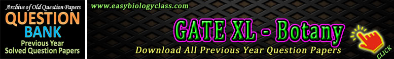 GATE Botany Old Question Papers
