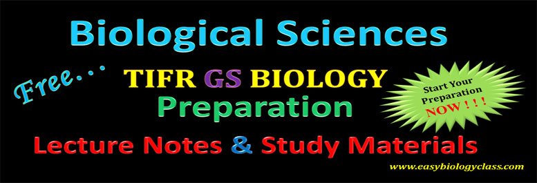 TIFR GS Biology Online Tutorials / Coaching