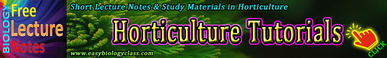 Horticulture Short Notes