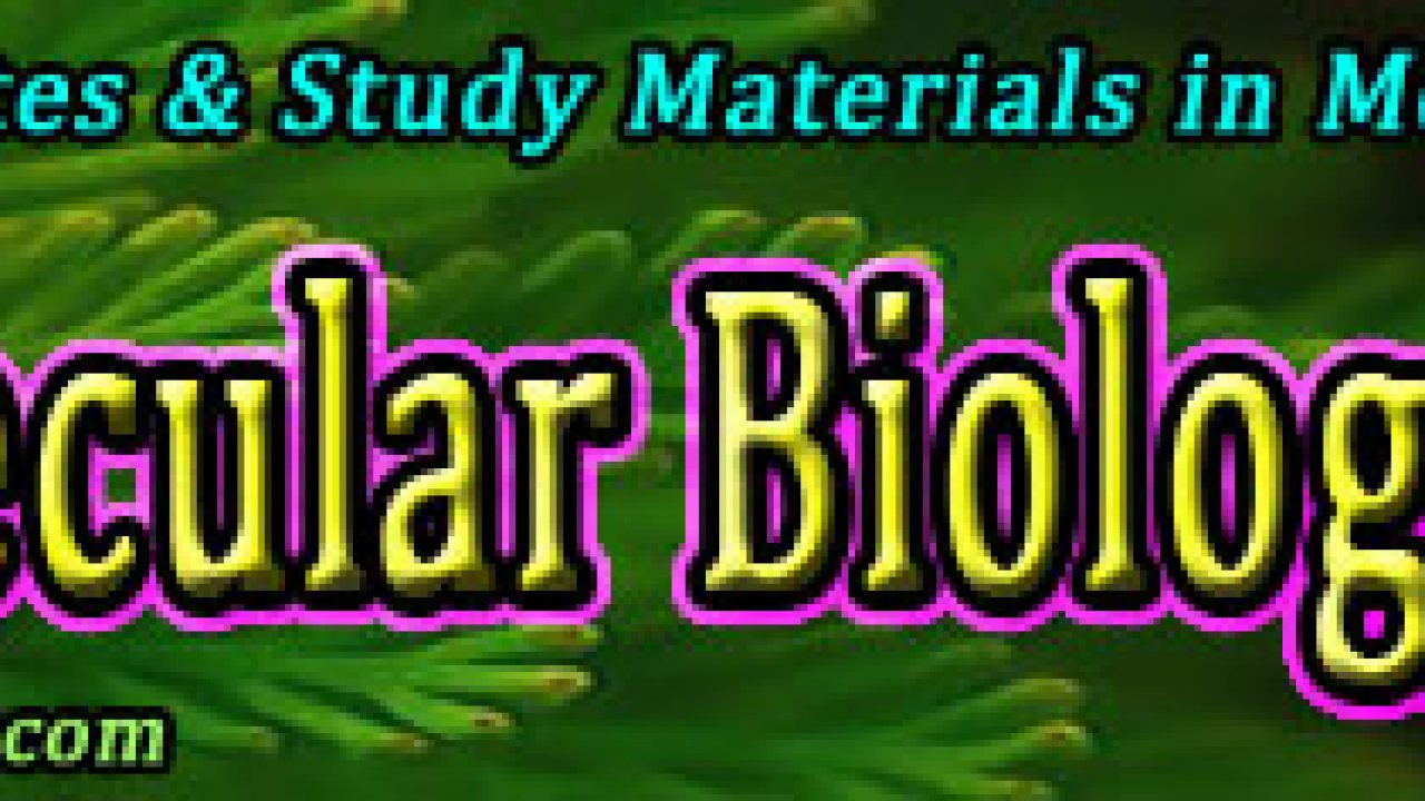 Molecular Biology Lecture Notes & Study Materials | easybiologyclass
