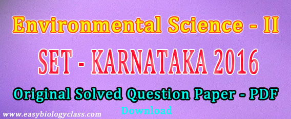 Karnataka SET Exam 2016