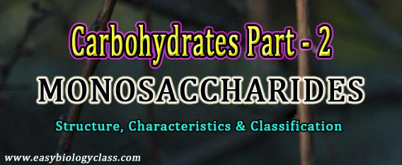 Biochemistry of Monosaccharides