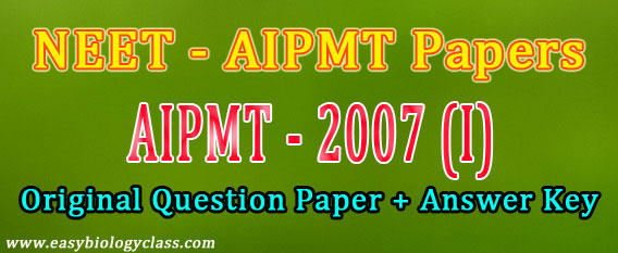 NEET 2007 Question Paper