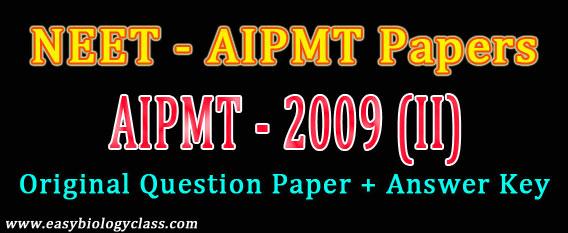 NEET 2009 Question Paper