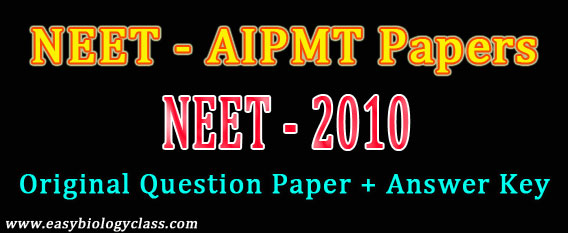 NEET 2010 Question Paper