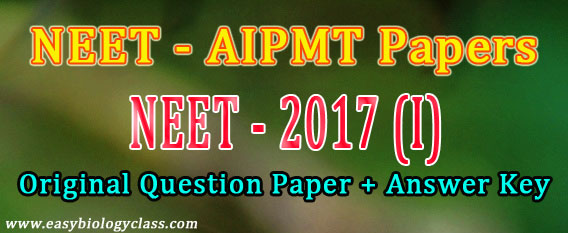 AIPMT 2017 Solved Question Paper