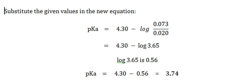 Solved Problem pH and pKa