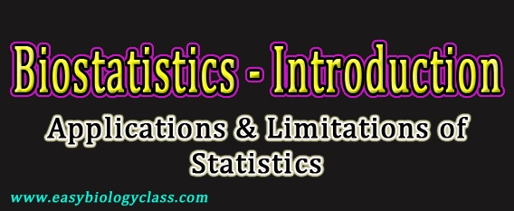 Limitations of Biostatistics | easybiologyclass