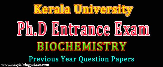 Biochemistry PhD Entrance Paper