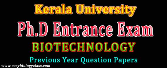Biotechnology PhD Entrance Paper