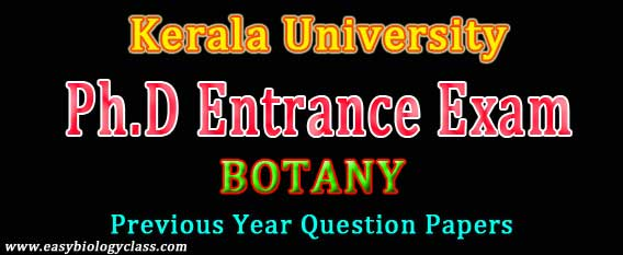 Botany PhD Entrance Test