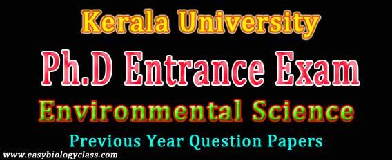 PhD Entrance Environmental Science