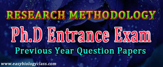 Research Methodology MCQ with Answer Key | easybiologyclass