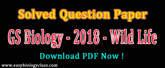 GS Biology 2018 Answer Key