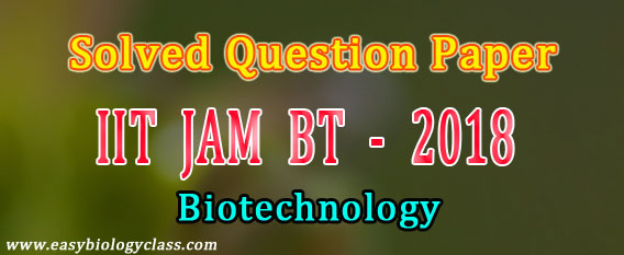 JAM BT 2018 Solved Question paper