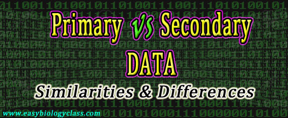 primary vs secondary data
