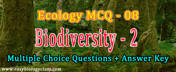 mcq on wild life conservation