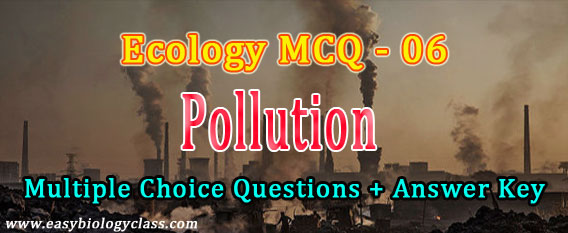 mcq on environmental pollution