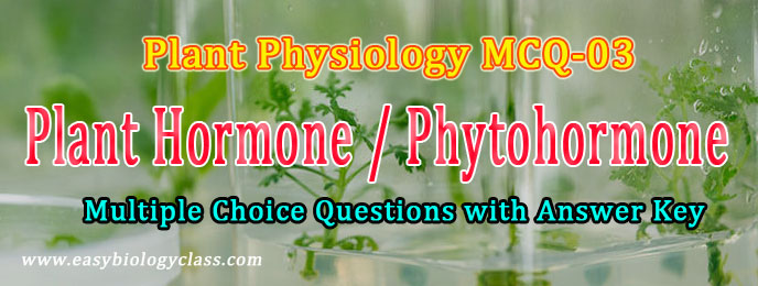 solved mcq on phytohormones