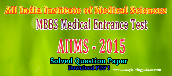 AIIMS 2015 Solved Paper